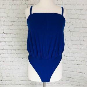 Free People Bodysuit Blue Marissa